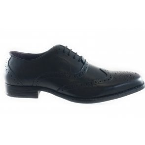 Bishop Black Leather Lace-Up Shoe