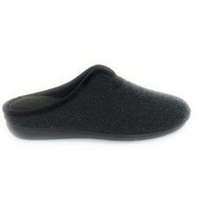 Black Albert Mens Mule Slippers