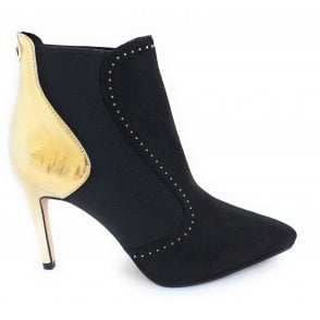 Black and Gold Amancio Ankle Boots