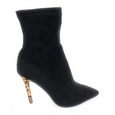 Black Del Sur Stiletto Heel Pull-On Boots