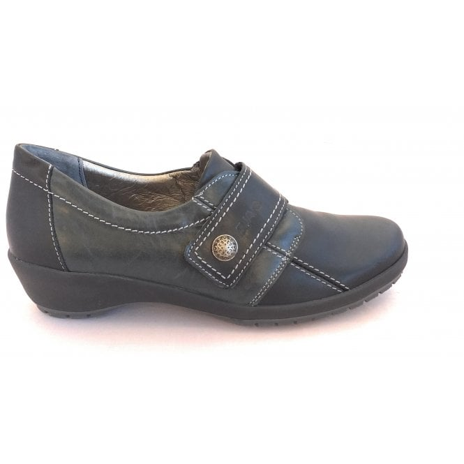 Suave Black Leather Casual Shoes