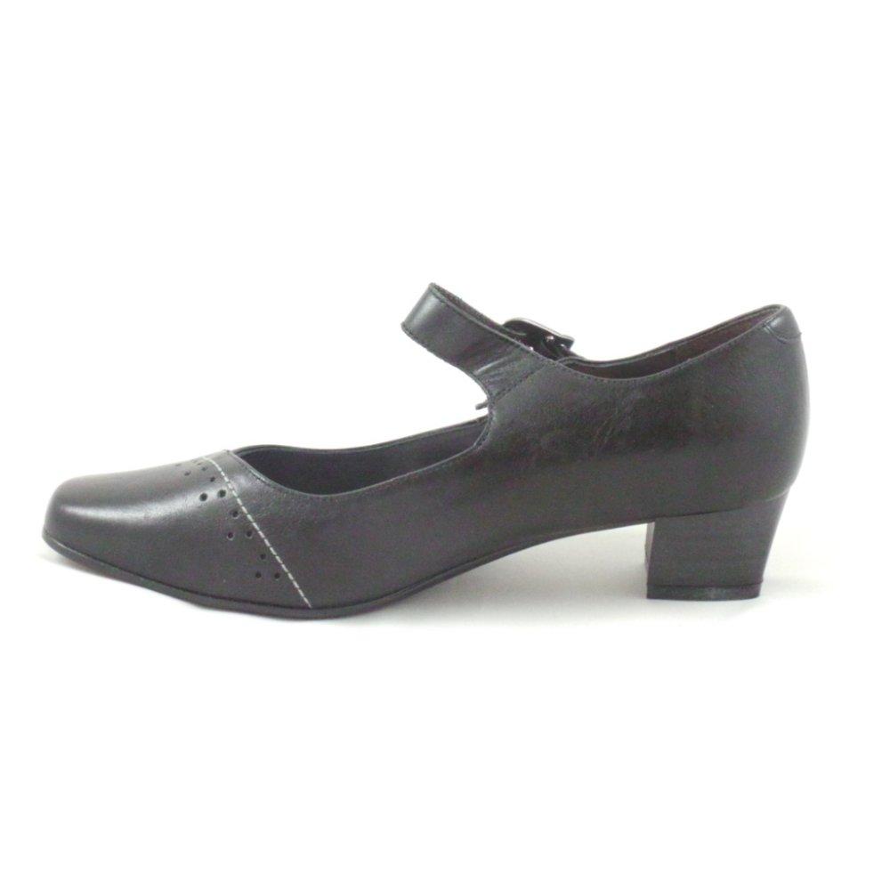 sandpiper black leather court shoe sandpiper from