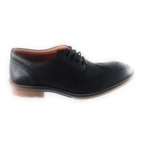Black Leather Lace-Up Brogue