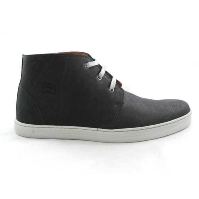 Softwalk Black Leather Lace-Up Casual Boot