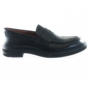 Black Leather Mens Loafer