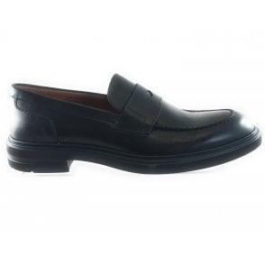 Black Leather Mens Loafer