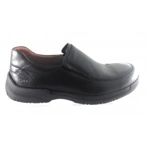 Black Leather Slip On Shoe