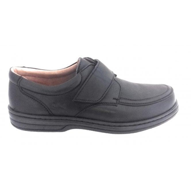 Softwalk Black Leather Velcro Shoe