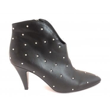 Black Melena Heeled Ankle Boot