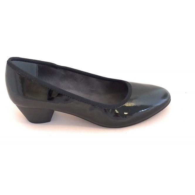 Jana Black Patent Court Shoe