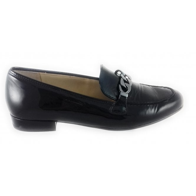 Ara Black Patent Loafer