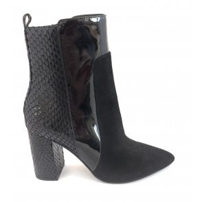 Black Sagua Mid-Calf Boot