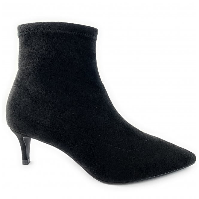 Lotus Black Suede Stretch Sock Boot