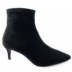 Black Suede Stretch Sock Boot
