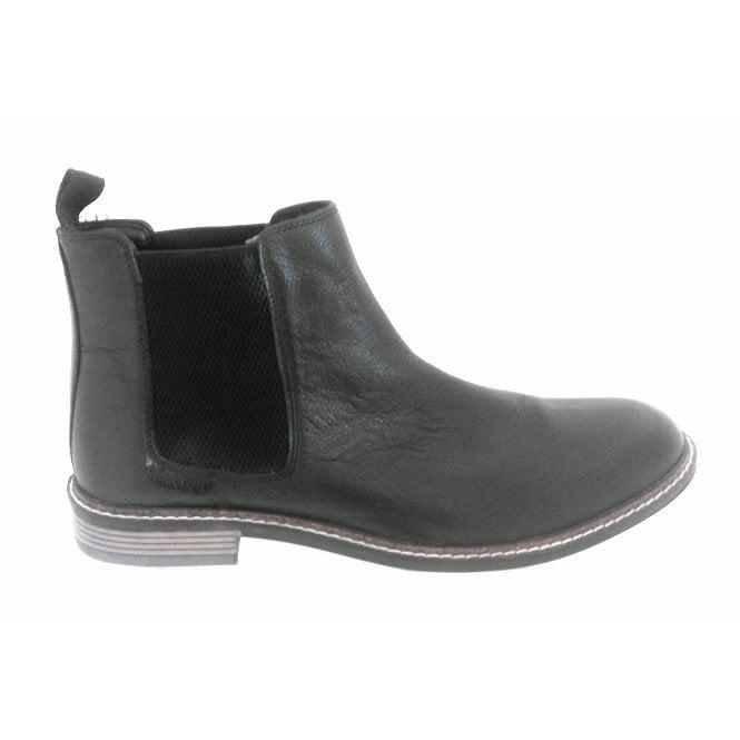 Lotus Blakesley Men's Black Leather Chelsea Boot