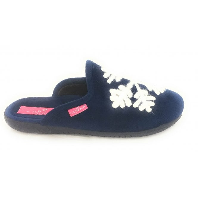 Lunar Blizzard Navy Blue Mule Slipper