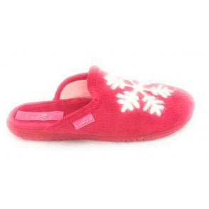 Blizzard Red Mule Slipper