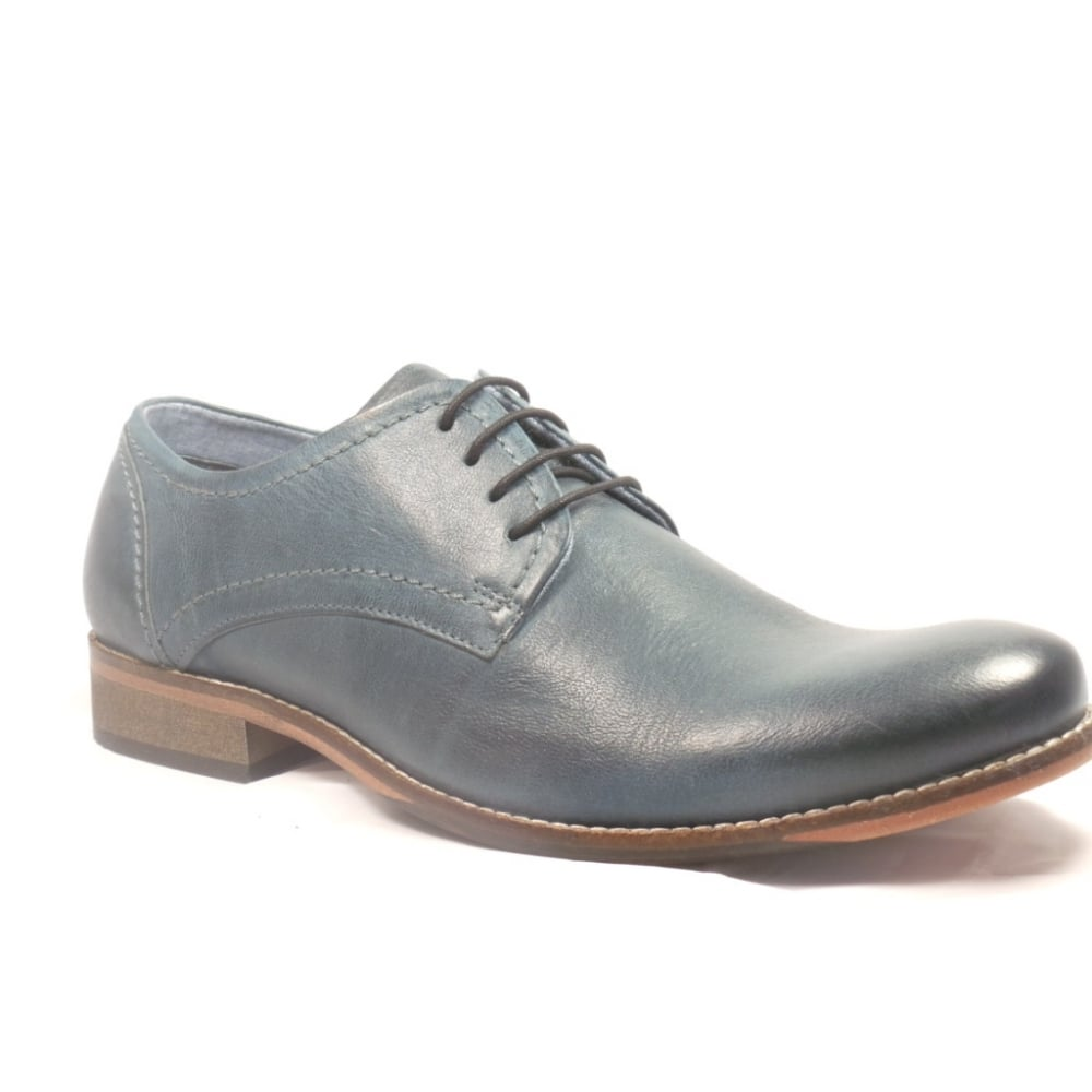 lotus blue leather lace up casual shoe lotus from