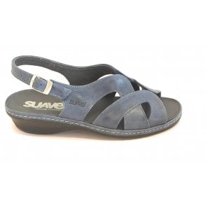 Blue Leather Sandal