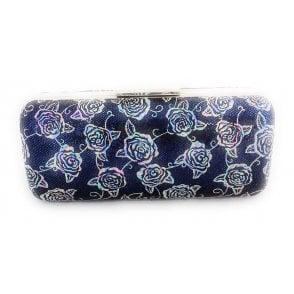 Blue Multi Floral Clutch Bag