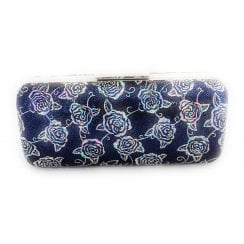 Blue Multi Floral Clutch Bag