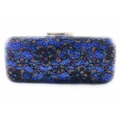 Blue Multi Sparkle Clutch Bag