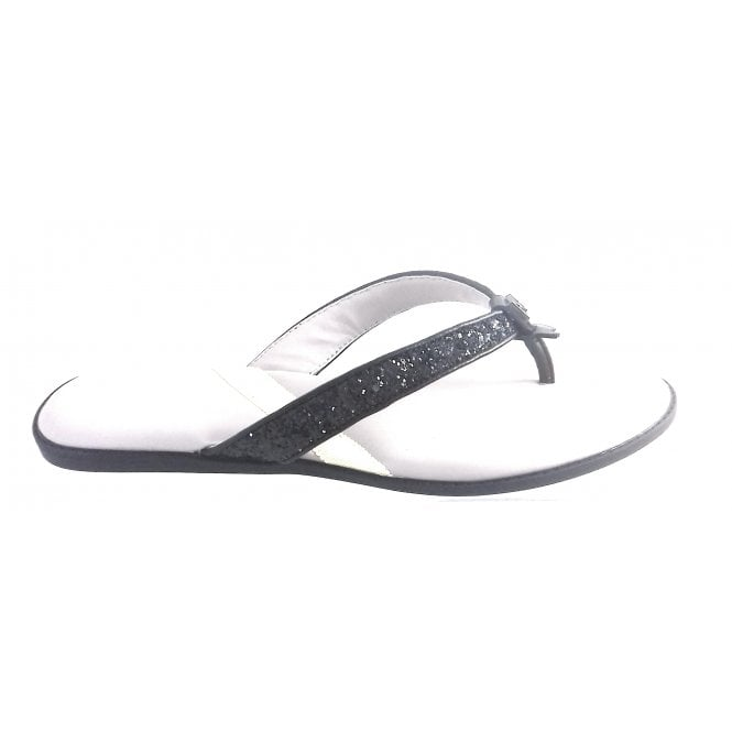 ec06045fc06d Butterfly Twists Bondi Black Glitter Toe-Post Sandal - Butterfly Twists  from size4footwear.com UK