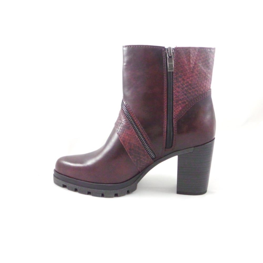 bordeaux faux leather ankle boot from uk