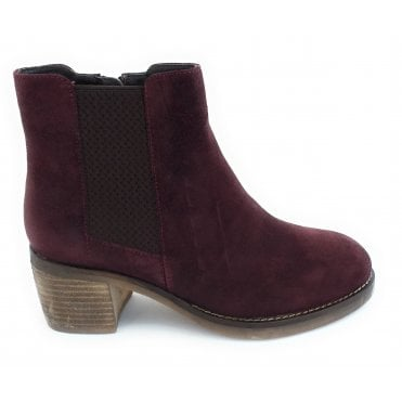 Bordo Faux Suede Ankle Boot