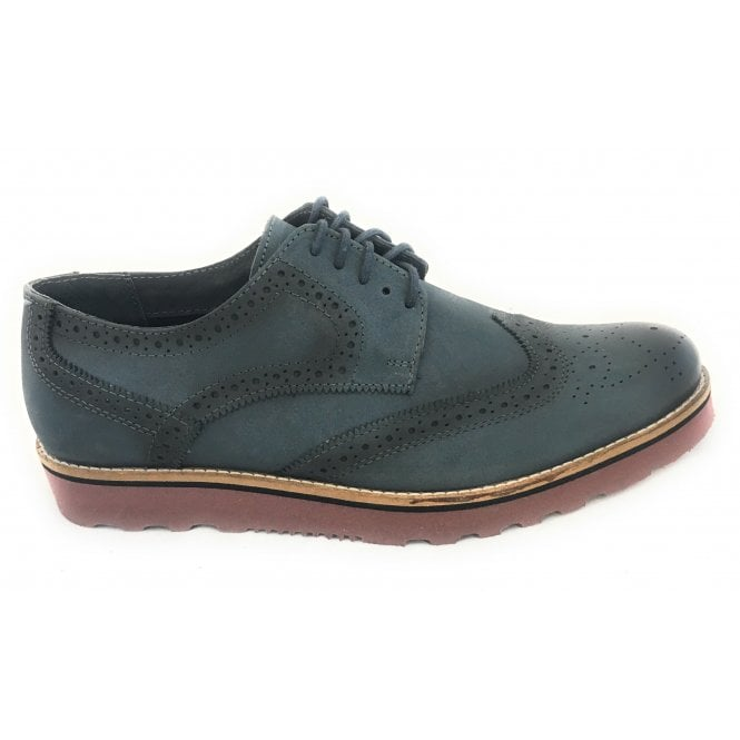 Lotus Bradshaw Men's Blue Leather Brogue