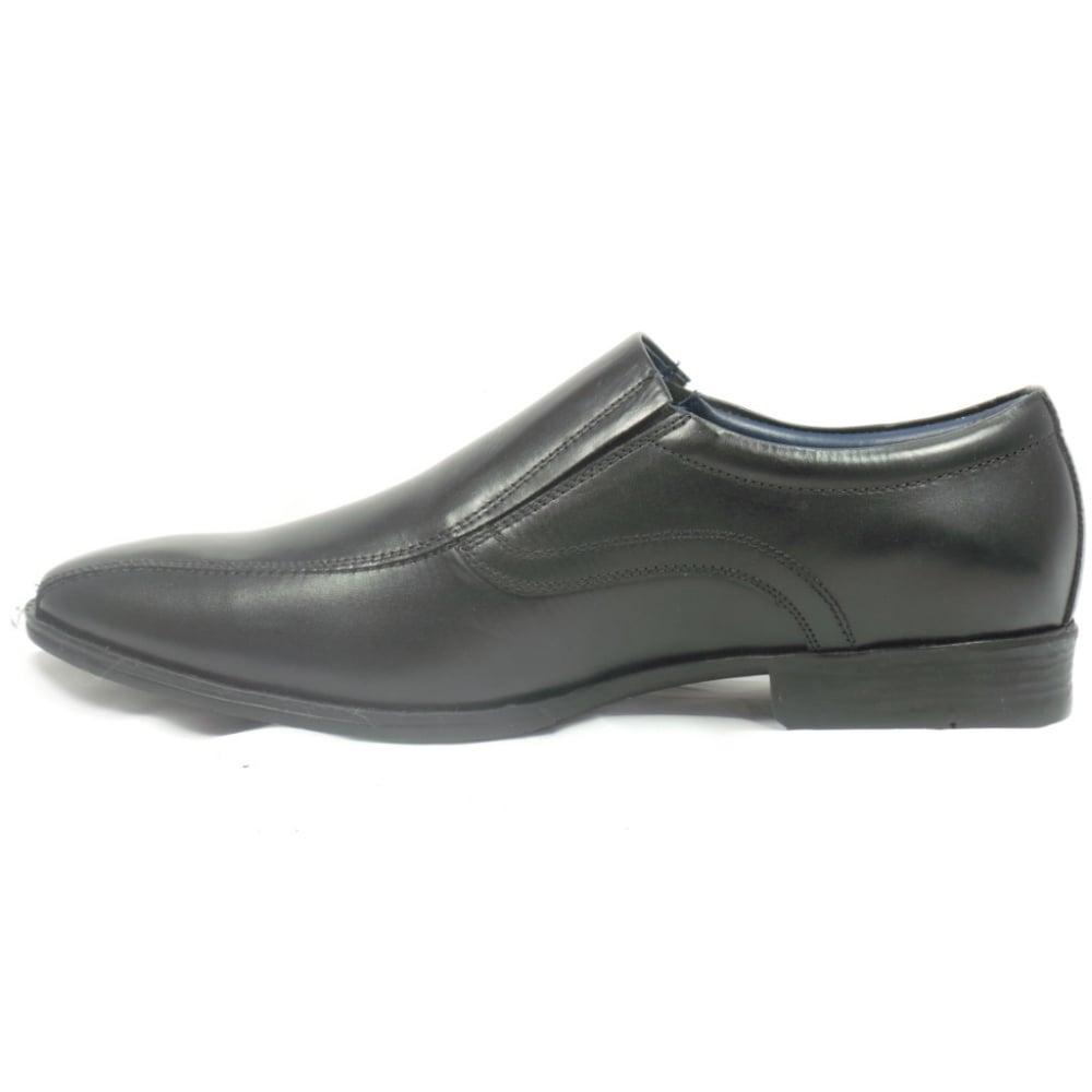 lotus brandon mens black leather slip on shoe lotus from