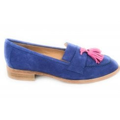 Bright Blue Suede Loafer