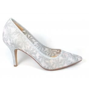 Briony Silver Court Shoes