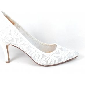 Briony White Court Shoes