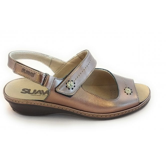 Suave Bronze Leather Wide Fit Sandal