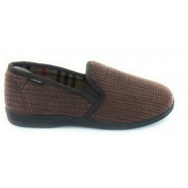 Brown Bevis Mens Slippers