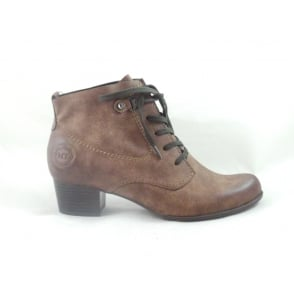 Brown Lace-Up Ankle Boot