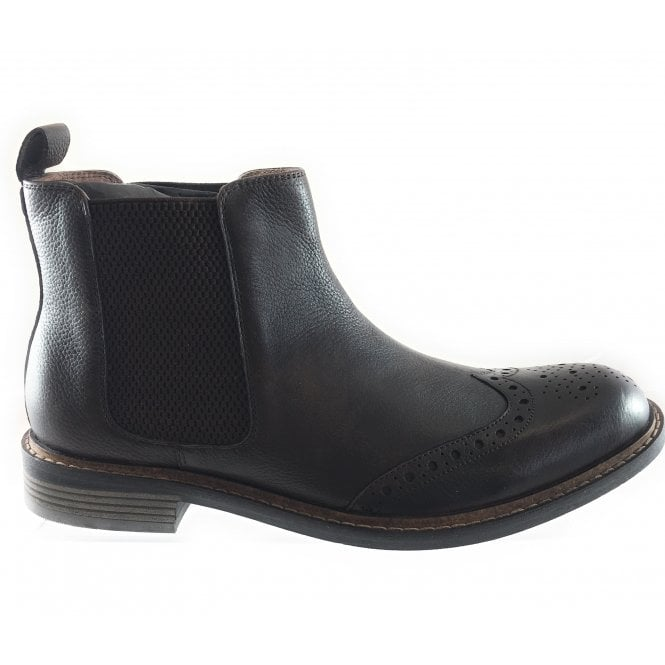 Lotus Brown Leather Brogue Chelsea Boot