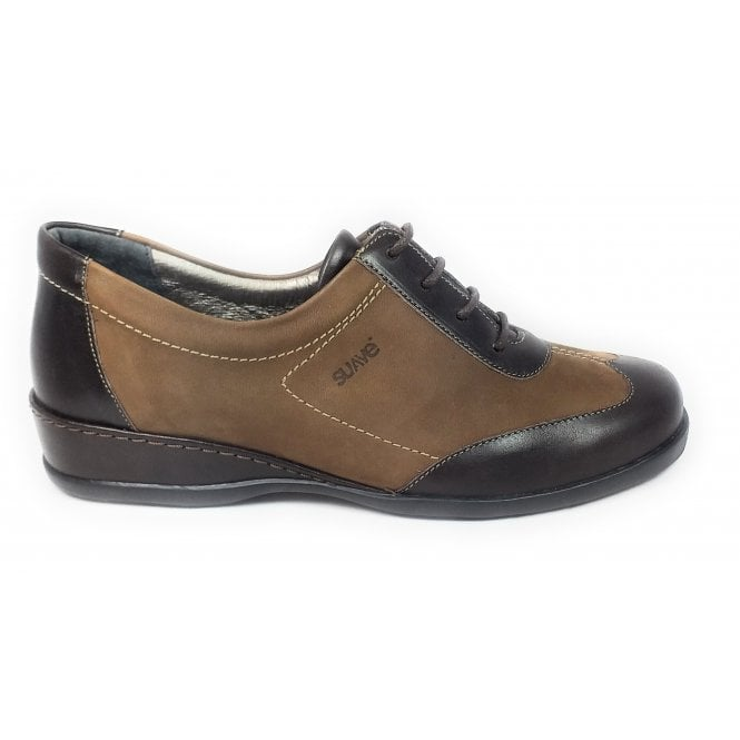 Suave Brown Leather casual Lace-Up Shoes