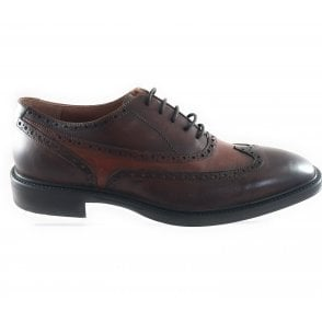 Brown Leather Lace-Up Brogue