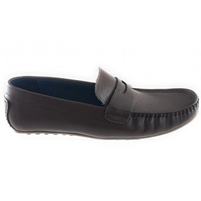 Lotus Brown Leather Men's Loafer