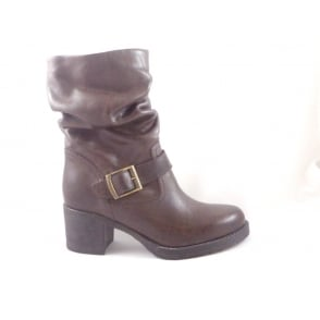 Brown LeatherAnkle Boot