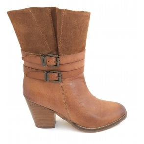 Brown Shores Leather Heeled Ankle Boots