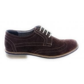 Brown Suede Brogue