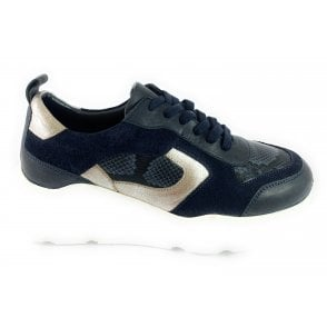 Budapest Navy Leather Casual Shoe