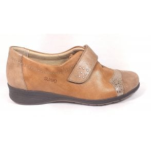 Bunty Beige Leather Casual Shoes
