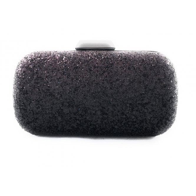 Lotus Burgundy and Black Glitter Clutch Bag