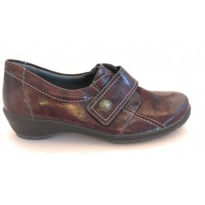 Burgundy Leather Casual Shoes