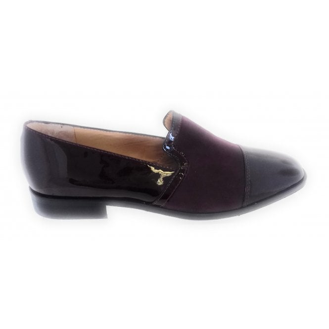 HB Burgundy Patent and Suede Loafer