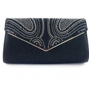 Caia Silver Diamante Occasion Bag